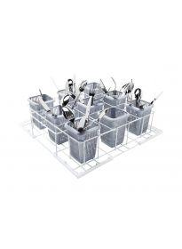 Miele Professional U 504 - Diskkorg med 9 fack för bestickkorgar i plast